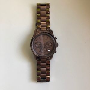Michael Kors Runway Mid-size Brown Watch